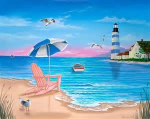 Lighthouse Wall Mural beach chair wall mural wallpaper
