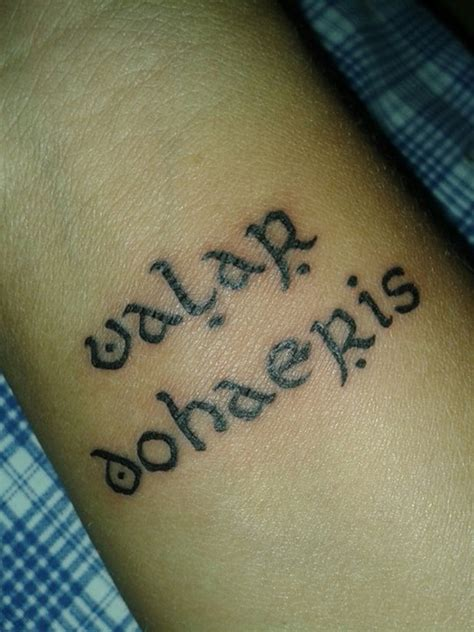 valar morghulis tattoo the gallery for gt valar dohaeris