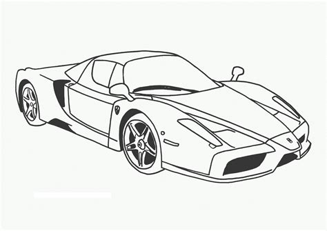 free racing cars coloring pages