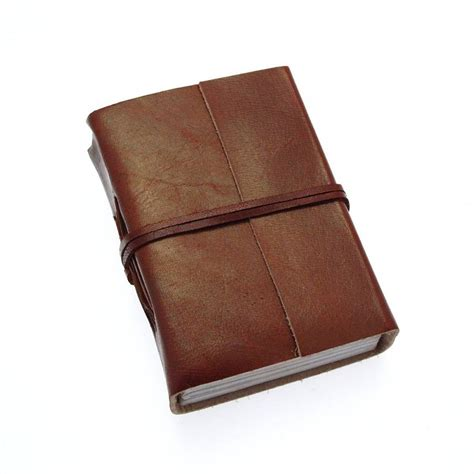 How To Make Handmade Leather Journals - handmade plain leather journals by paper high