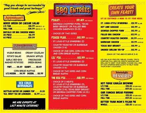 #8 of 8 Price Lists & Menus – Famous Dave's Palmdale ... Famous Dave's Menu