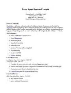ramp agent resume example