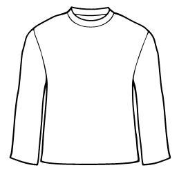 long sleeve t shirt clipart