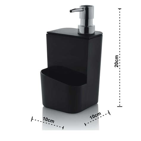 Dispenser Es dispenser para detergente e esponja 650ml preto wp connect