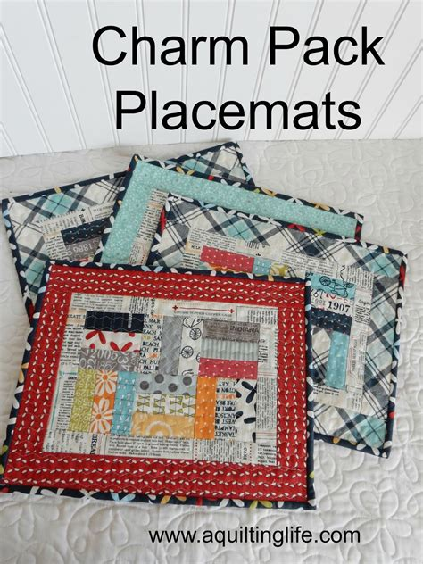 quilting placemats tutorial charm pack patchwork placemats tutorial a quilting life
