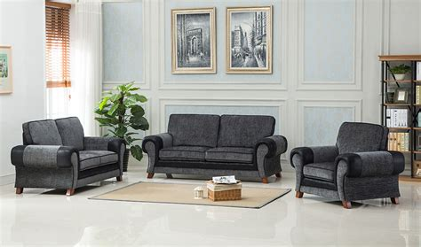 grey black sofa toronto fabric 2 seater sofa grey black