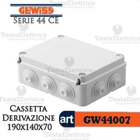 cassette derivazione gewiss cassetta di derivazione da parete 190x140x70 mm gewiss