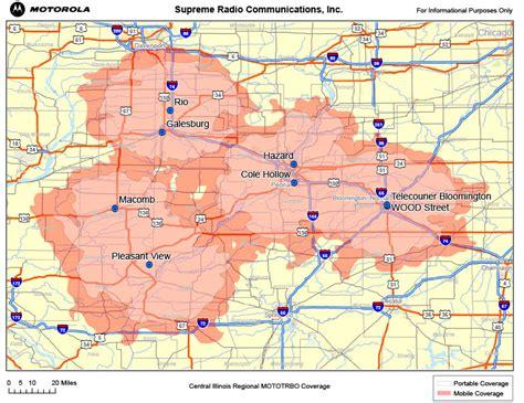 supreme radio supreme radio communications inc illinois coverage maps