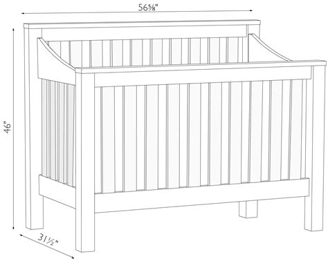 Baby Crib Measurements by Mission Slat Convertible Crib Amish Traditions Wv