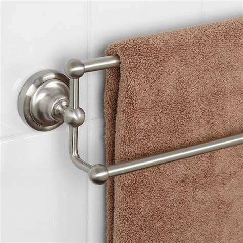 Bathroom Fixtures Towel Bars Bathroom Decorating Your Bathroom With Brushed Nickel Towel Bar Accessories Ideas