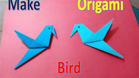 How To Make Origami Goose - how to make a paper origami bird easy simple hack