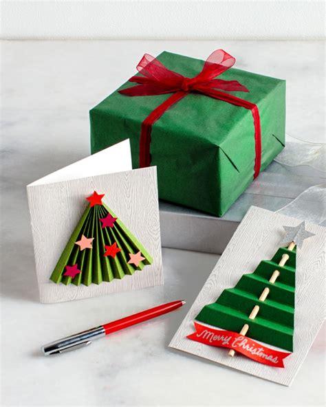 casa arbol navidad tarjetas de navidad originales que puedes hacer en casa
