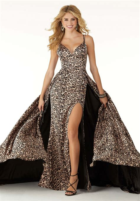 morilee prom  sexy  neckline cape skirt high slit