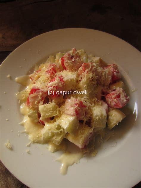 cara membuat salad buah mayonnaise dwek dapur pemula salad buah saus jeruk nipis