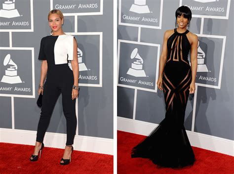 Subdued Styles Dominate Grammy Fashion by Beyonc 233 And Rowland Dominate The Grammys Carpet