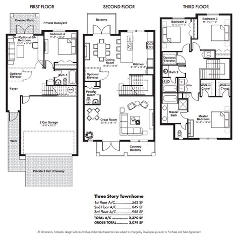 3 Story Townhouse Plans by Townhouse Floor Plans Story Townhouse Floor Plans Car