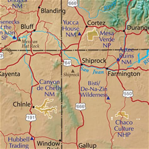 road map four corners usa map of the four corners area of us pictures to pin on