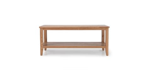 Coffee Table With Shelves Cadley Oak Coffee Table With Shelf Lifestyle Furniture Uk