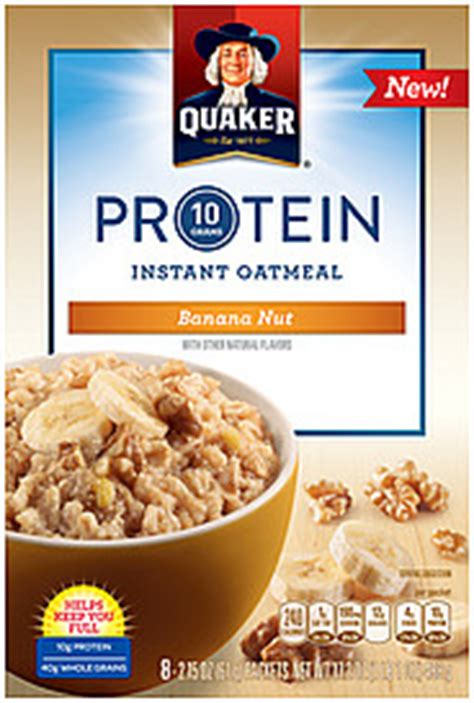 weight management oatmeal nutrition facts quaker oatmeal instant banana nut 8 0 ea nutrition