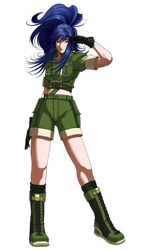 imagenes anime kof leona heidern king of fighters