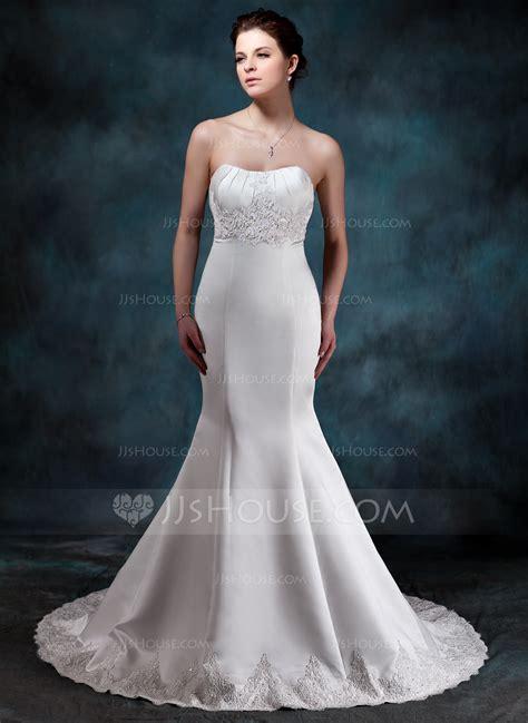 trumpet mermaid sweetheart court train wedding dress