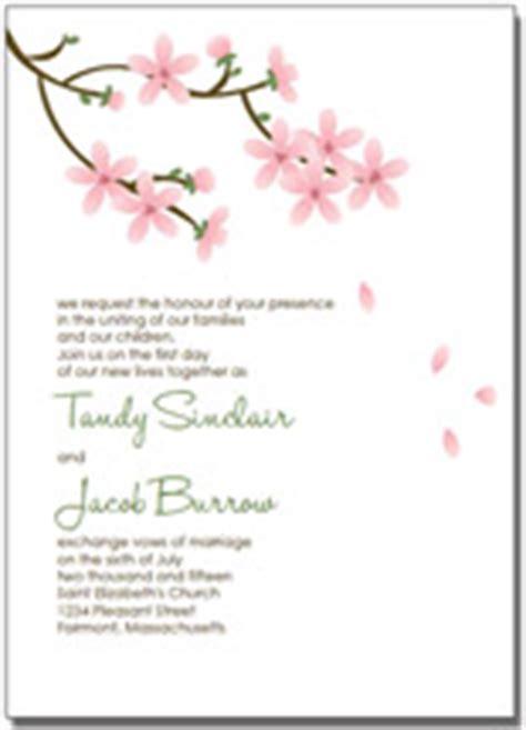 Cherry Blossom Wedding Invitations Cherry Blossom Invitation Template