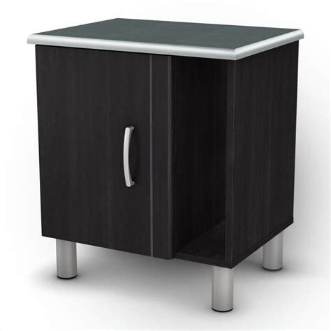 Dispenser Cosmos Stand south shore cosmos nightstand in black onyx charcoal 3127063