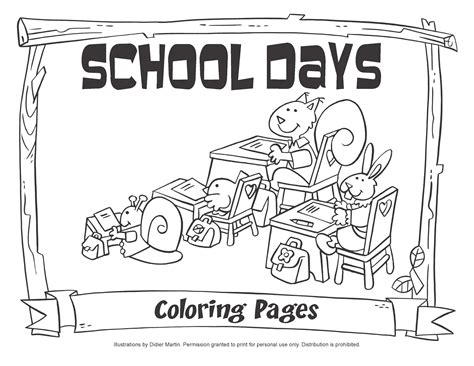 My Little House School Days Coloring Pages Day Of School Coloring Sheet