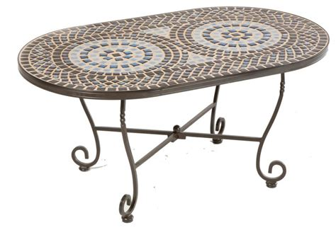 alfresco home tremiti mosaic oval coffee table modern
