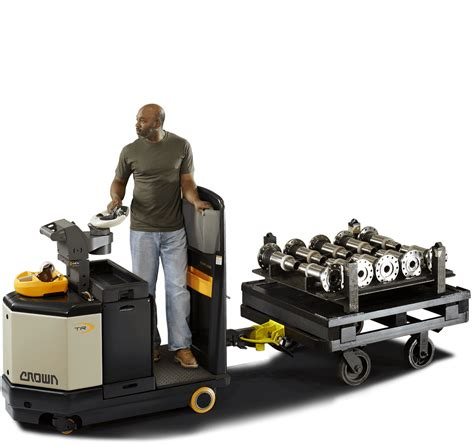 tow tractors electric pallet tuggers tr crown equipment