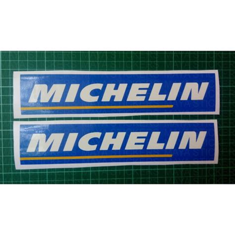 michelin tires logo sticker decal for bikes and cars