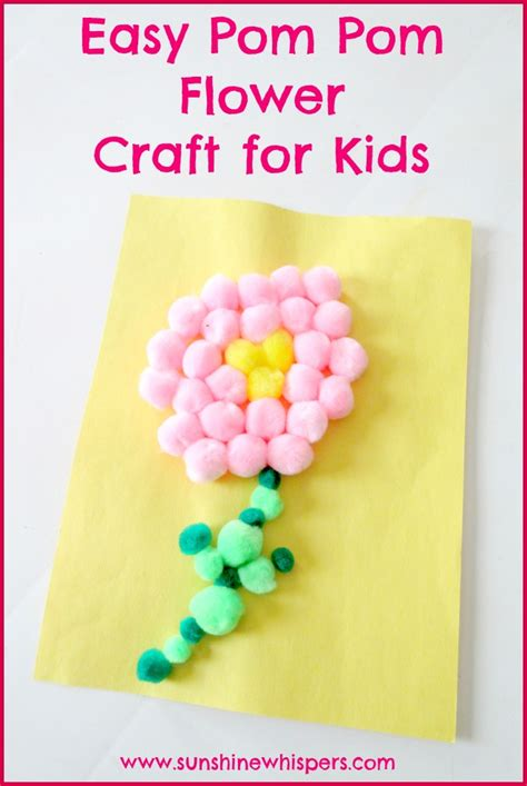 pom pom craft for easy pom pom flower crafts for whispers