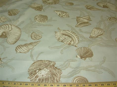 nautical upholstery bty breamore seashells nautical cotton upholstery fabric