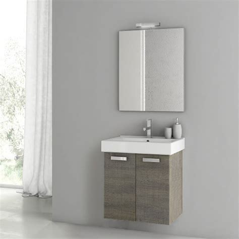 modern 22 inch cubical vanity set with ceramic sink