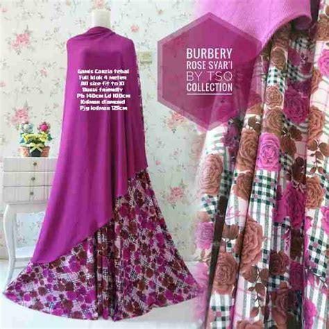 Harga Gamis Burberry baju gamis jumbo b100 burberry syar i motif bunga