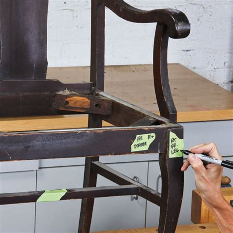 repair wood furniture dismantle and reassemble chairs