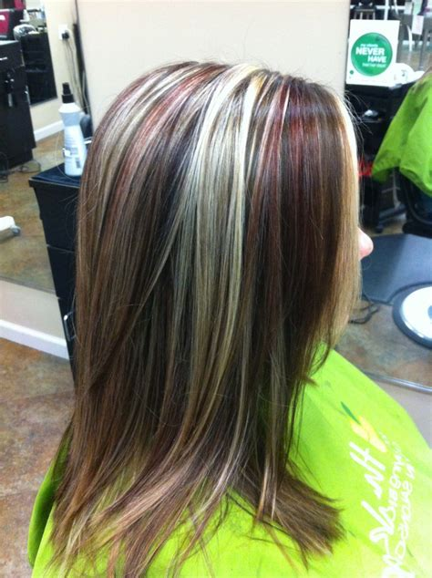 blonde and burgundy hairstyles burgundy blonde and dark brown hair and beauty