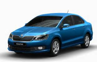 White Led Lights New Skoda Rapid India 2016 Launch Price Images