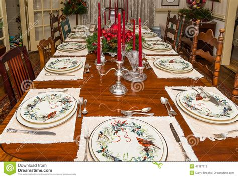 Sale Mainan Family Meal Set formally set dining table at stock photo image