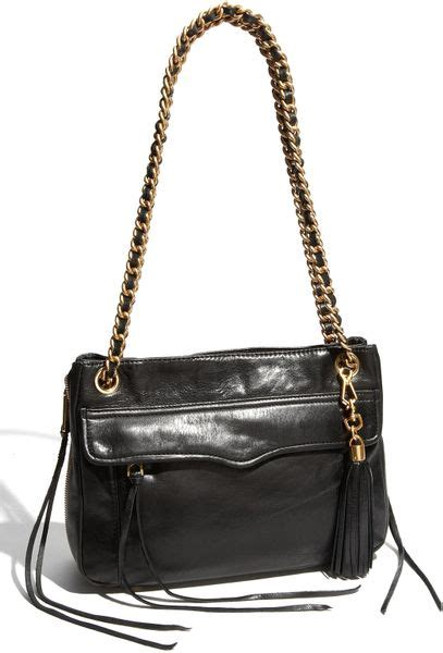 rebecca minkoff swing bag black rebecca minkoff swing double chain leather shoulder bag in
