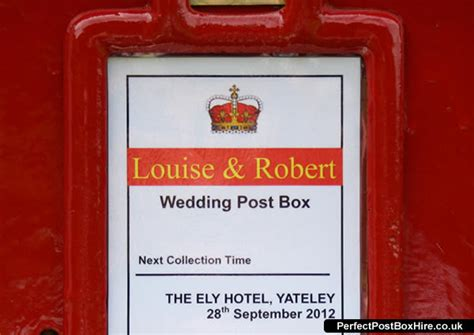 Wedding Post Box Wording by Wedding Post Box Gallery View Pictures Of Our Royal Mail