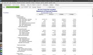 non profit balance sheet template excel nonprofit accounting software gt quickbooks 174 enterprise