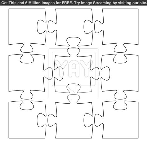 Puzzle Template 9 Pieces by Best Photos Of Random 9 Puzzle Template 9