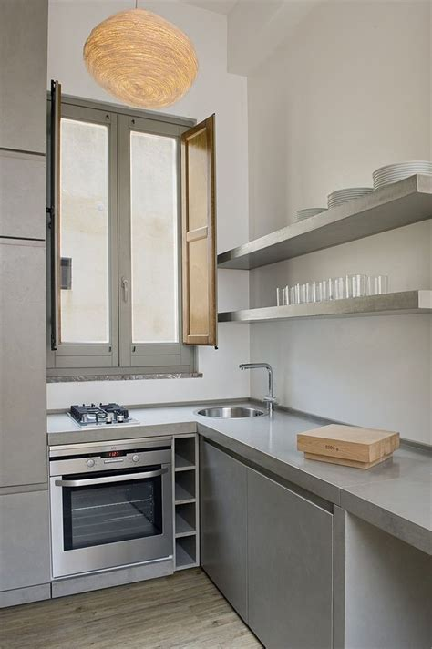 muebles de microcemento cocina con microcemento en estantes encimera y mueble en