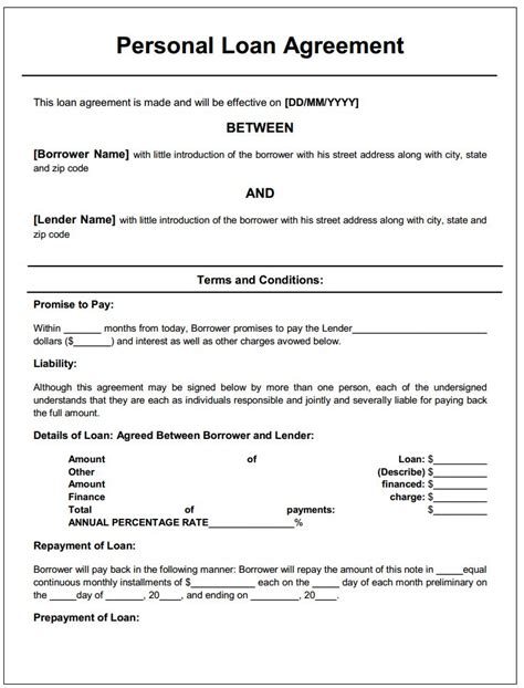 Loan Agreement Letter Sle Free 22 Best Images About Printable Agreements On Power Of Attorney Form Real Estate
