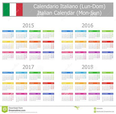 Calendrier Italie Calendrier 2015 2018 Italien De Type 1 Lundi Sun Images