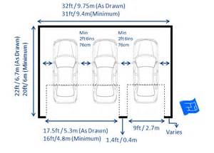Triple garage dimensions with two doors