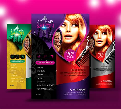 free templates for flyers hair salon city hair salon flyer v2 by satgur on deviantart