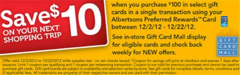 Albertsons Amazon Gift Card - albertsons spend 100 on gift cards get 10 off your next purchase