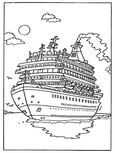 kleurplaat luxe cruiseship kleurplaten nl